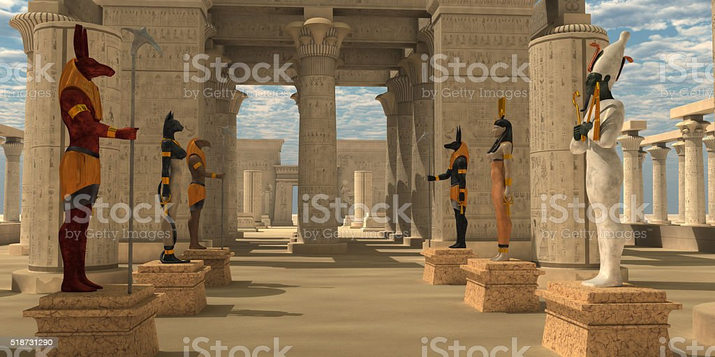 Temple of Ancient Pharaohs stock photo