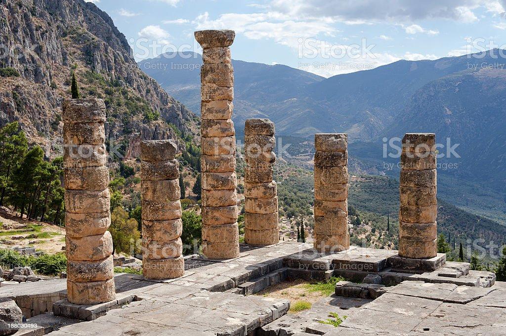 Temple of Apollo, Delphi stock photo