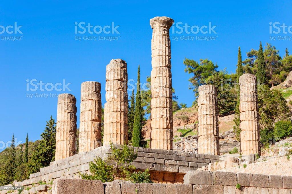 Temple of Apollo, Greece stock photo