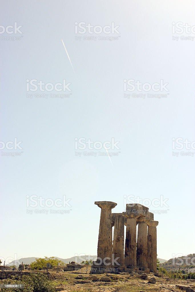 Temple of Apollo in Corinth - Greece stock photo