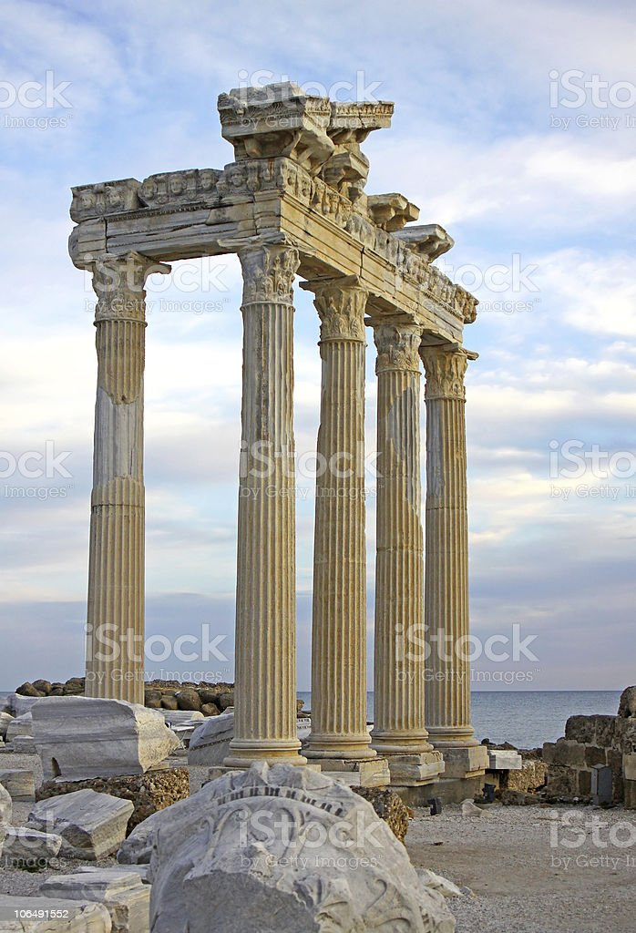 Temple of Apollo in Side, Turkey royalty-free stock photo