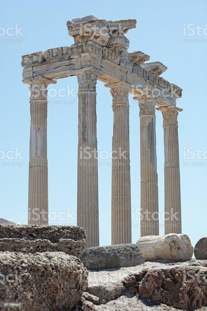 Храм Аполлона в стороны, Турция Стоковые фото Стоковая фотография