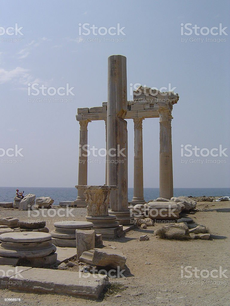 Temple of Apollo in Side, Turkey. royalty-free stock photo