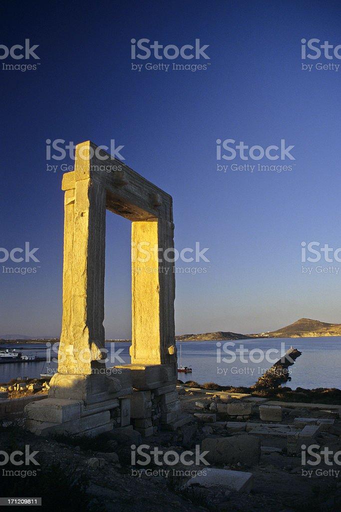 Temple of Apollo, Naxos stock photo