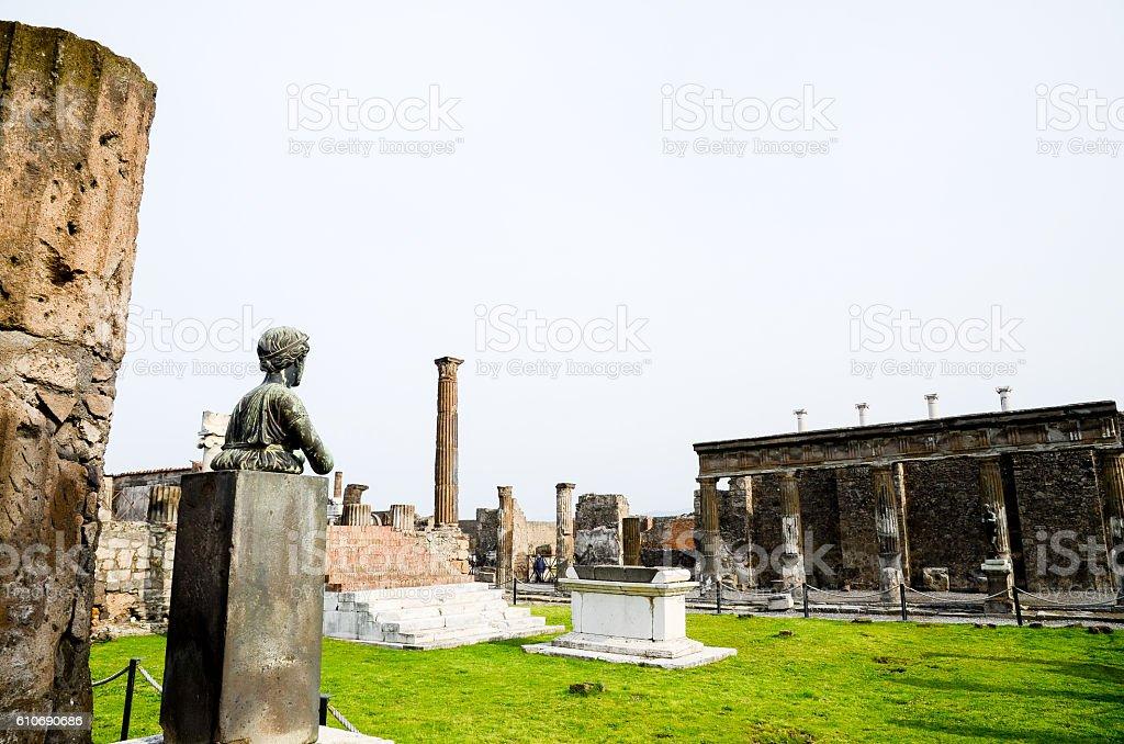 Temple of Apollo, Pompeii ( Italy ) stock photo