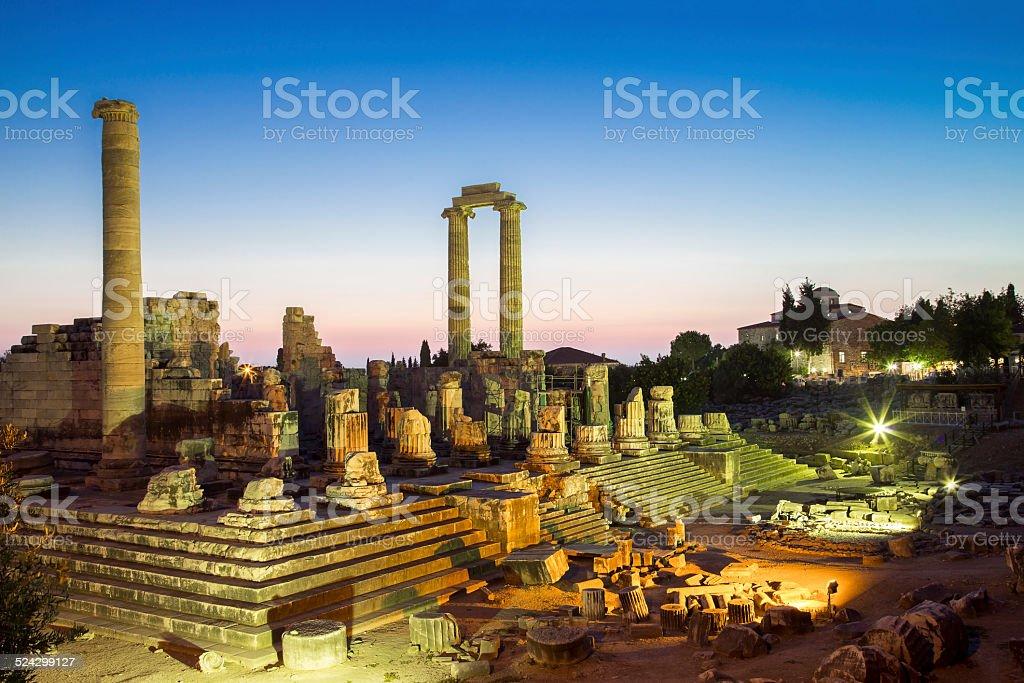 Temple of Apollo ruins in Didyma antique city Turkey 2014 stock photo