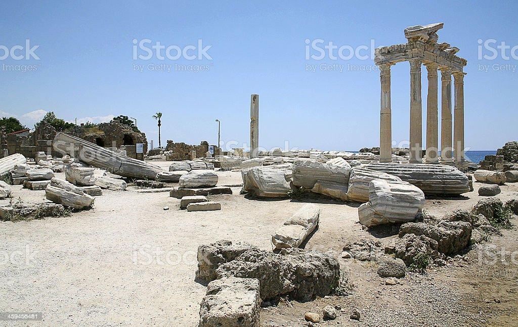 Temple of Apollo ruins stock photo