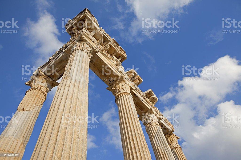 Temple of Apollo, Side, Anatalya royalty-free stock photo