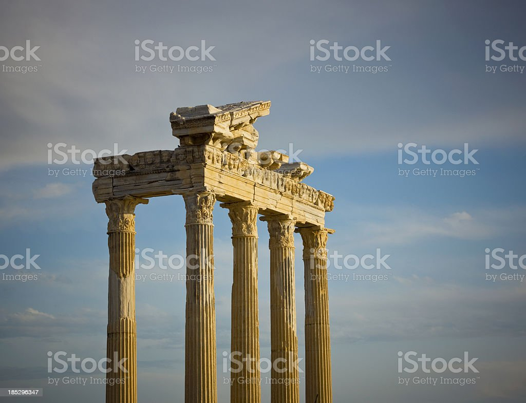 Temple of Apollo, Side, Anatalya royalty-free stock photo