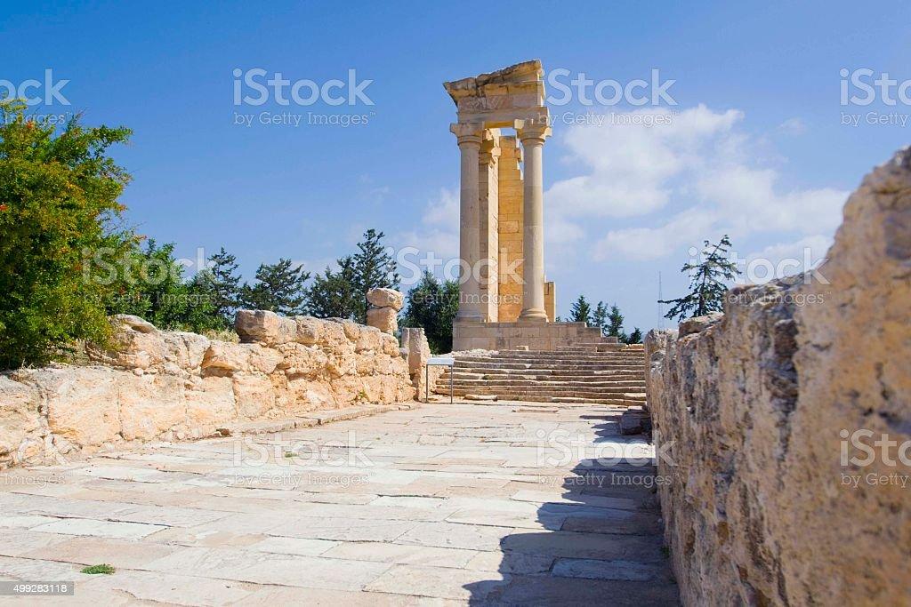 Temple of Apollon Hylates stock photo