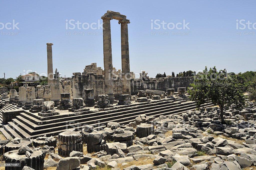 Temple of Apollon royalty-free stock photo