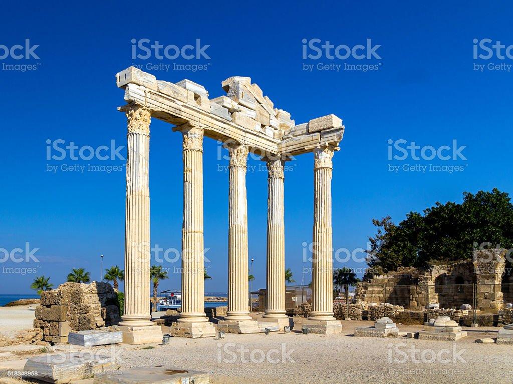 Temple of Apollon, Side, Turkey stock photo