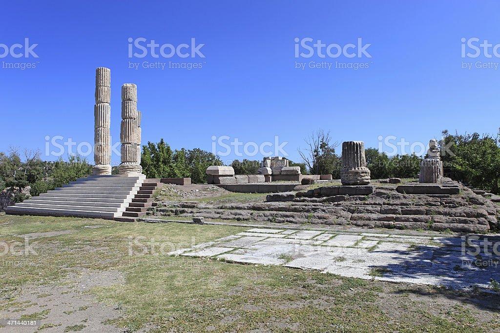 Temple of Apollon Smintheus stock photo