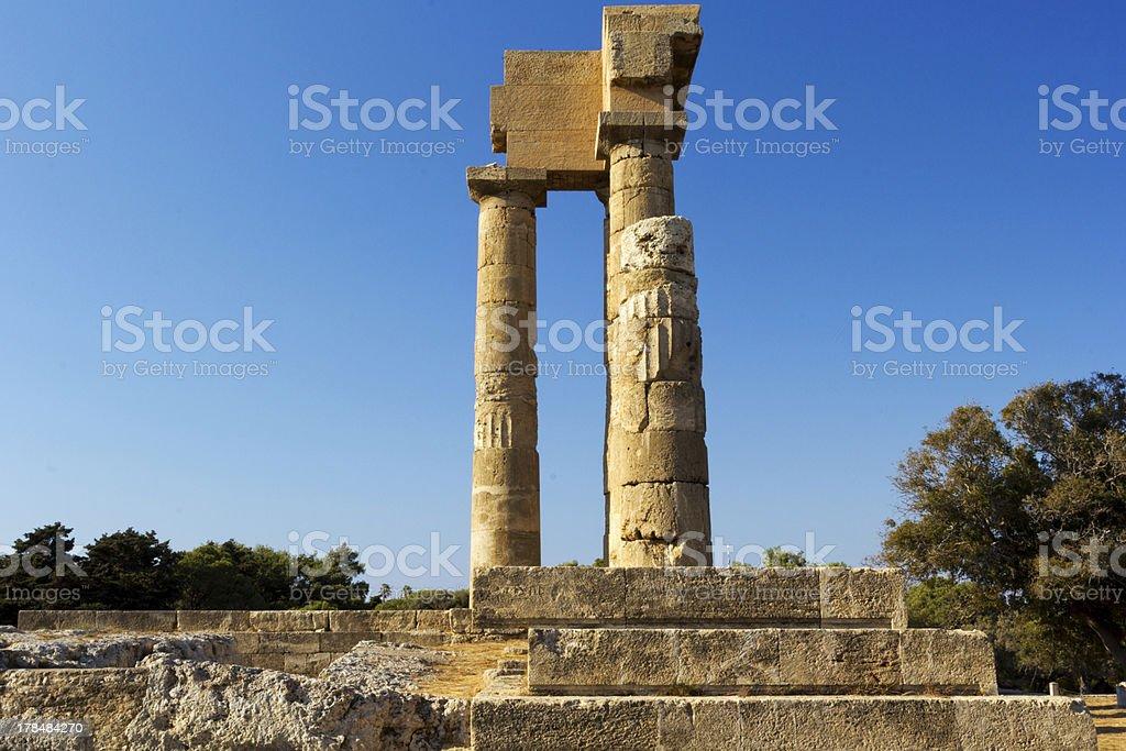 Temple of Apollonas stock photo