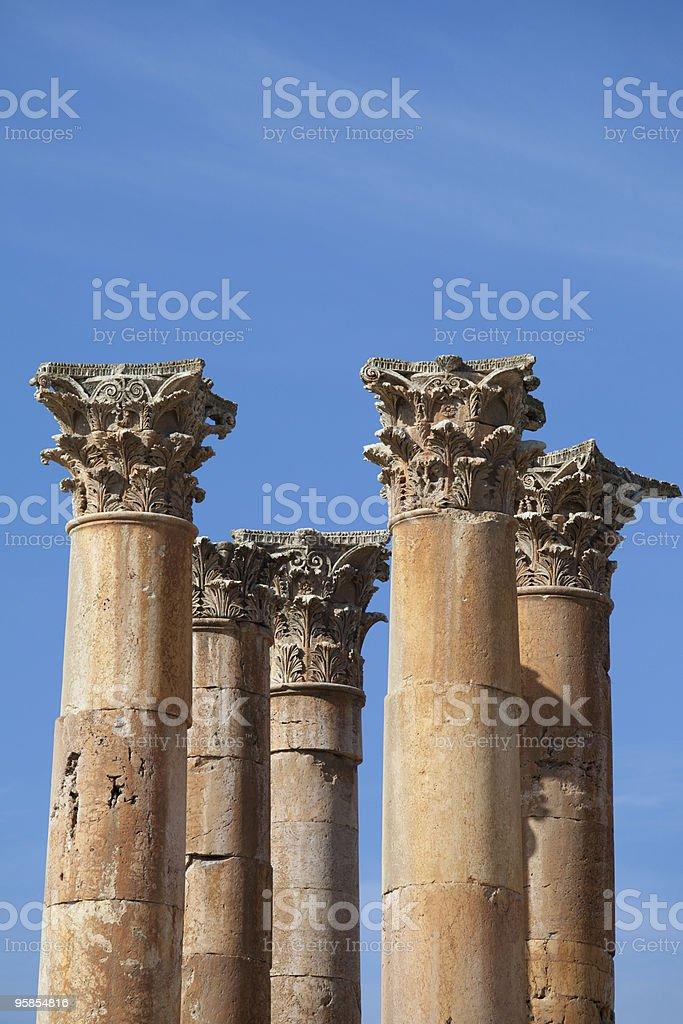 Temple of Artemis, Jarash, Jordan royalty-free stock photo