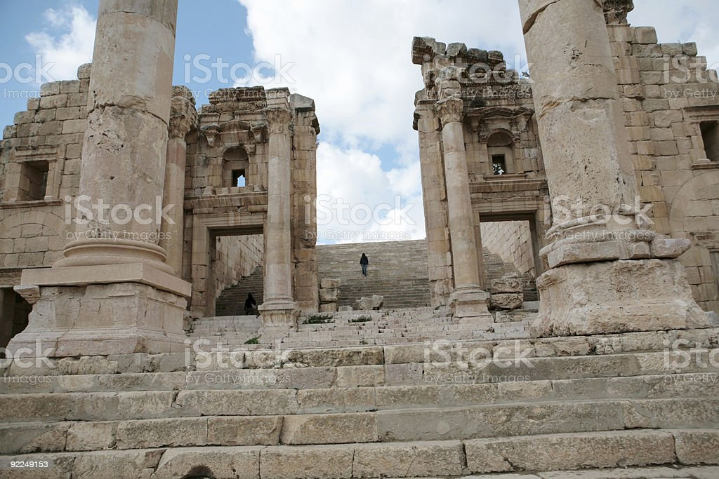 Temple of Artemis, Jerash, Jordan stock photo