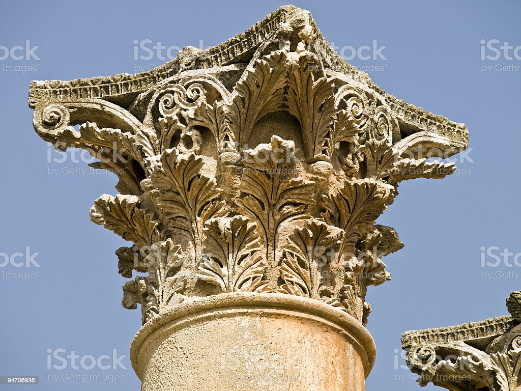 Temple of Artemis, Jerash royalty-free stock photo