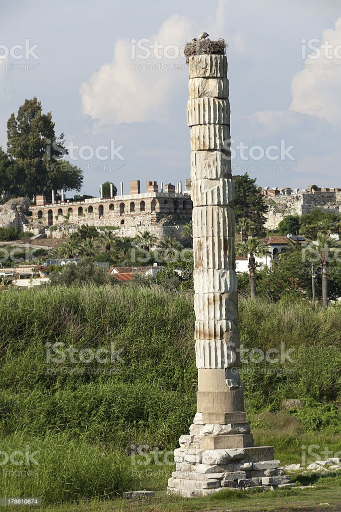 Temple of Artemis royalty-free stock photo