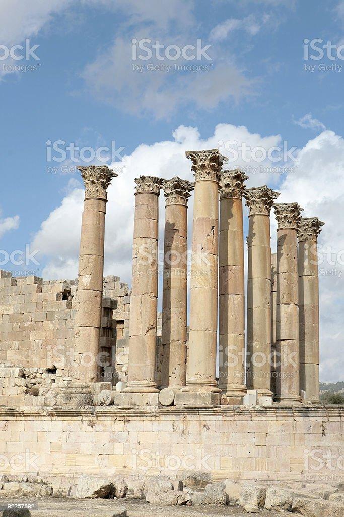 Temple of Artemis (Jordan) royalty-free stock photo