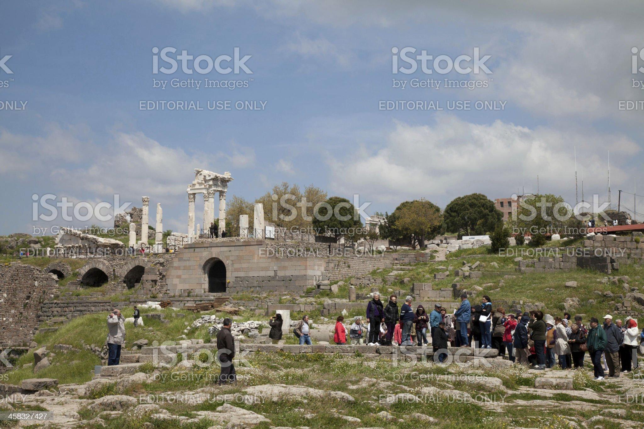 temple of asklepion Pergamon royalty-free stock photo