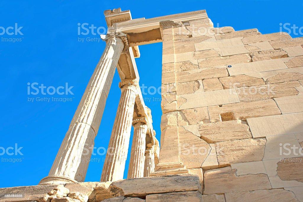 Temple of Athena Nike. stock photo