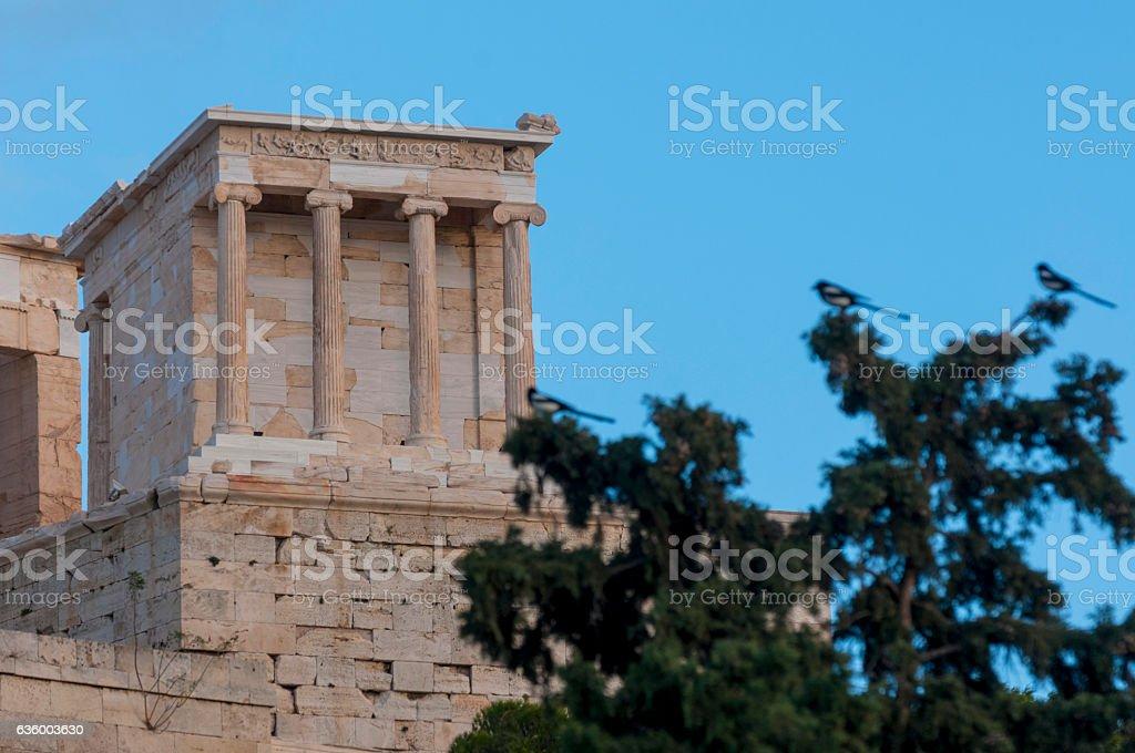 temple of athena nike stock photo