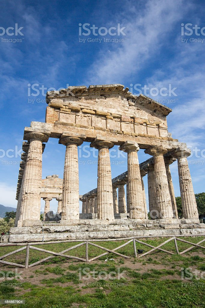 Temple of Athena, Paestum, Italy stock photo
