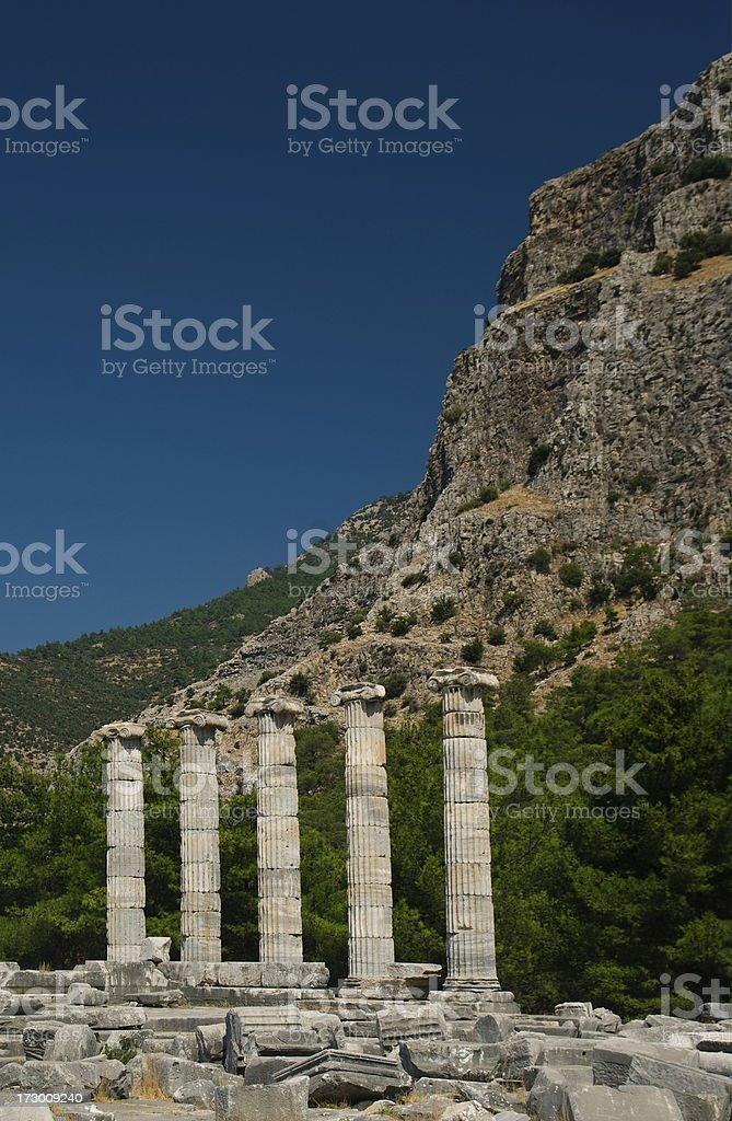Temple of Athena, Priene royalty-free stock photo