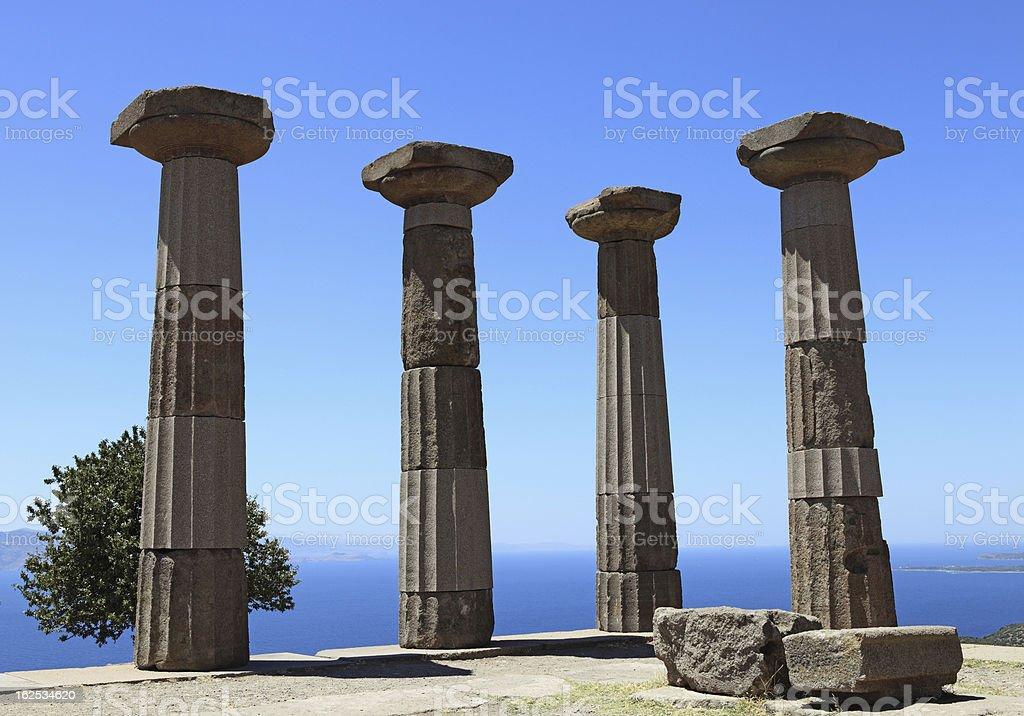 Temple of Athens stock photo