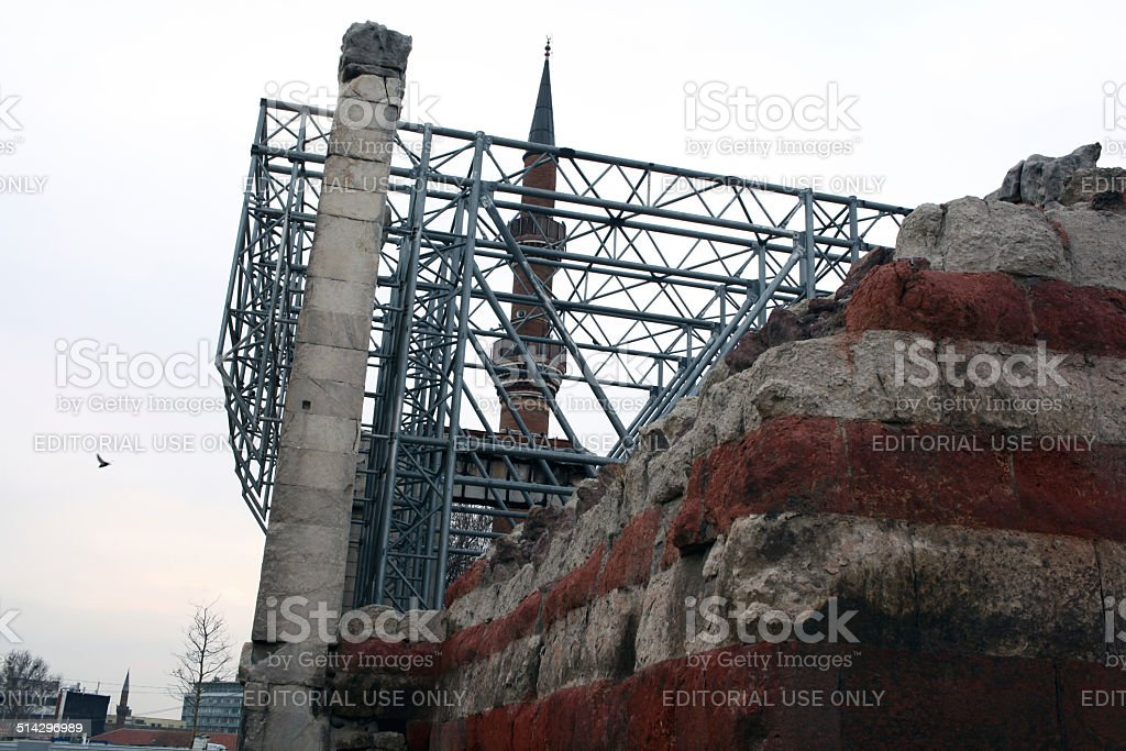 Augustustempel in Ankara Lizenzfreies stock-foto