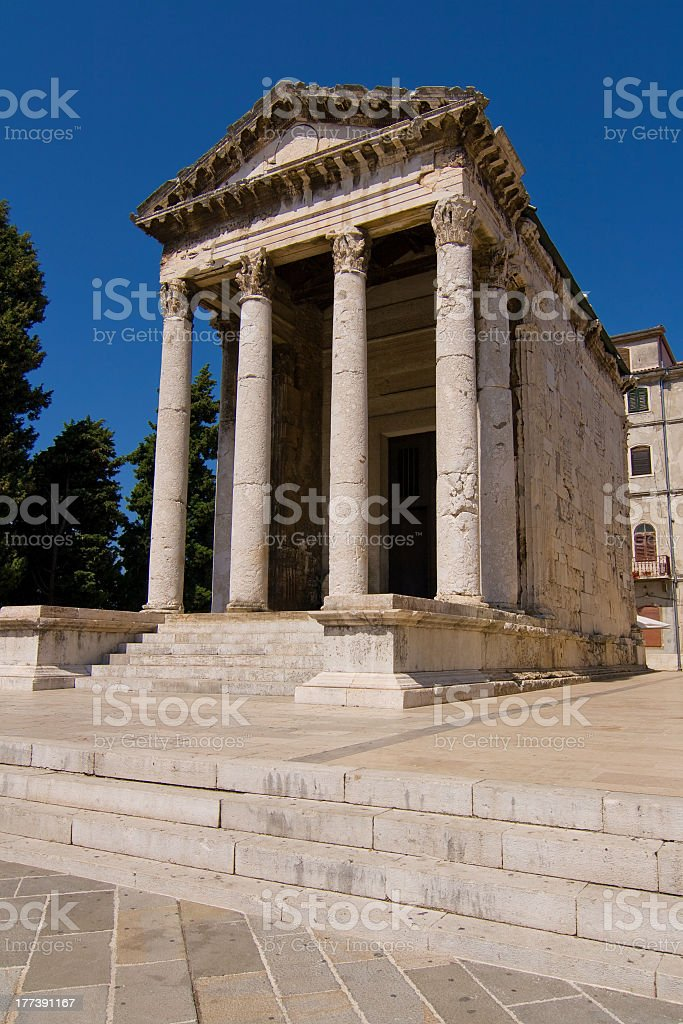 Temple of Augustus royalty-free stock photo