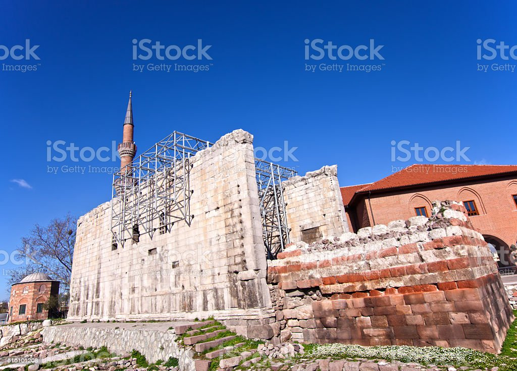 Temple of Augustus stock photo
