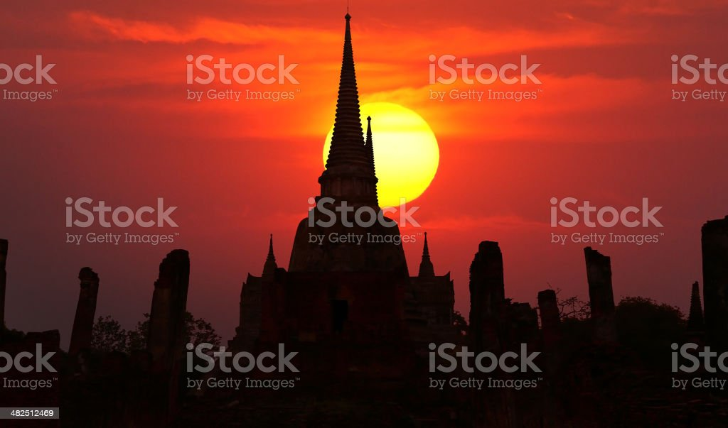 Temple of Ayudhaya royalty-free stock photo