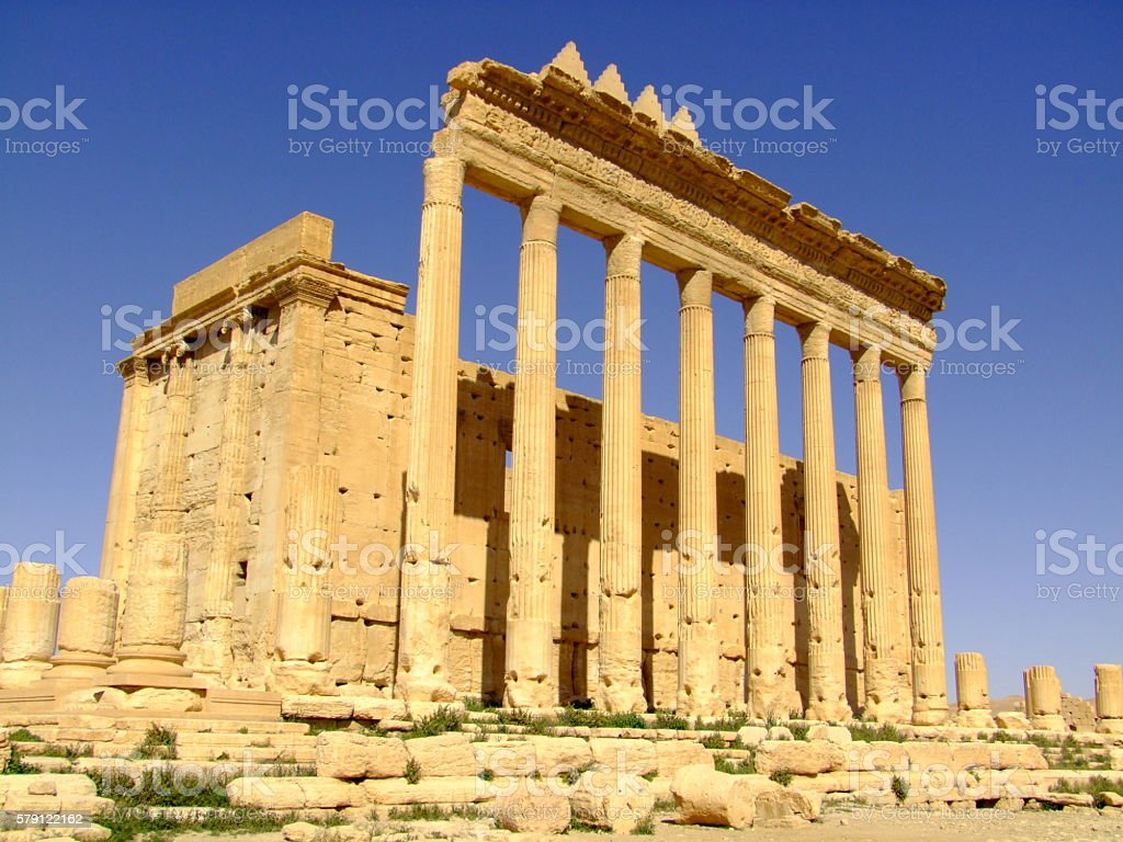 Temple of Baal, Palymra, Syria stock photo