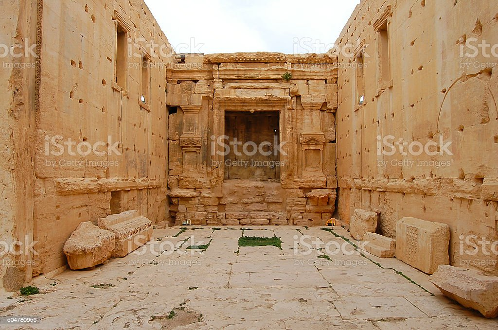 Temple Of Baalshamin (Now Destroyed) - Palmyra Ruins - Syria stock photo