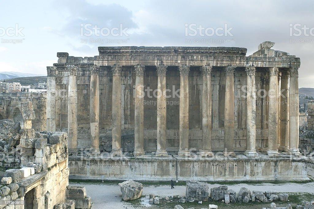 Temple of Bacchus at Heliopolis (Baabek), Lebanon stock photo