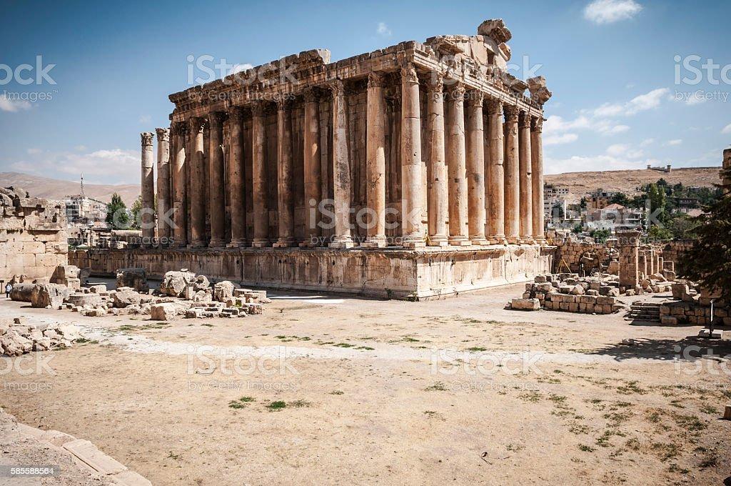 Temple of Bacchus in Baalbek, Lebanon stock photo