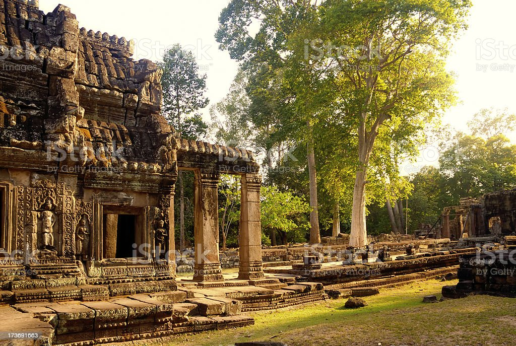 Temple of Banteay Kdei, Ancient Angkor, Cambodia royalty-free stock photo