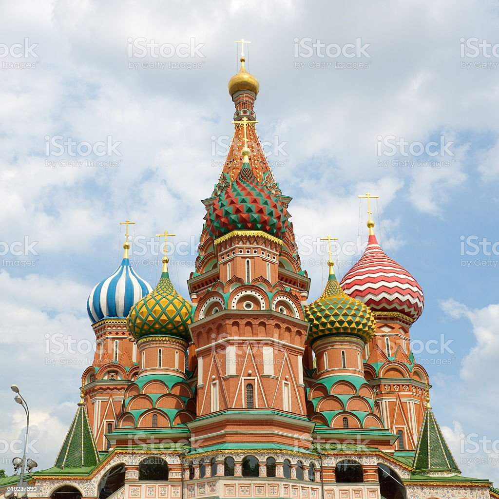 Temple of Basil the blessed, Moscow, Russia stock photo