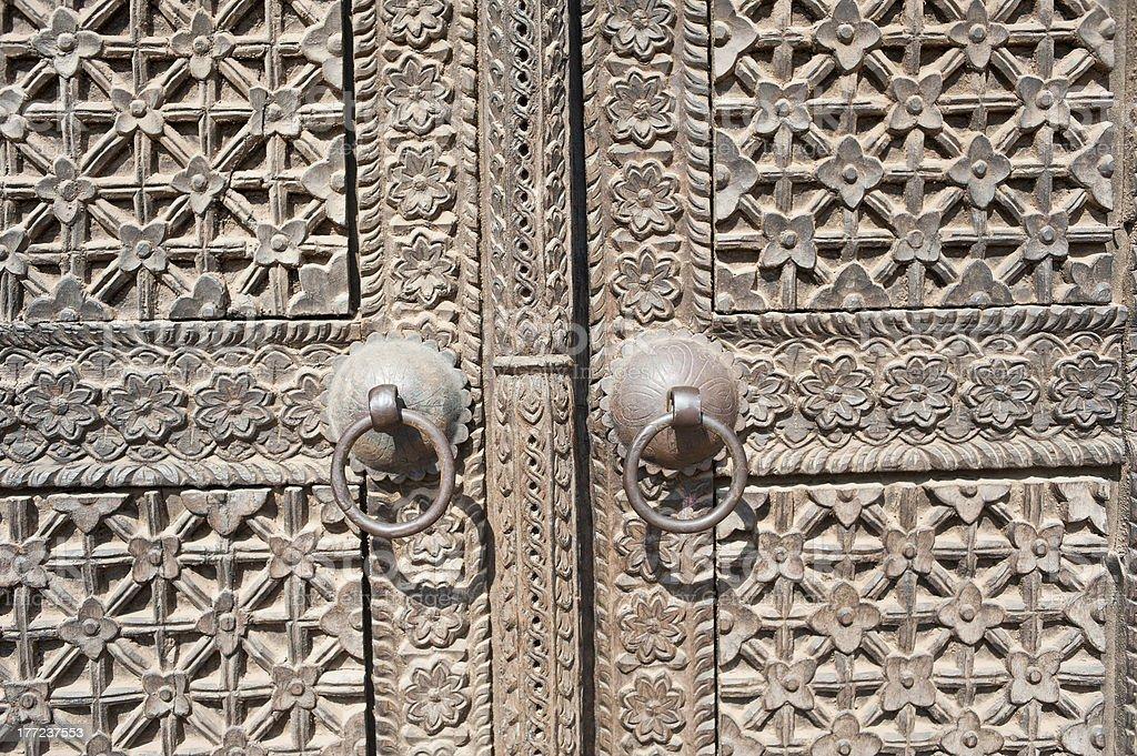 Temple of bronze doors, Nepal royalty-free stock photo