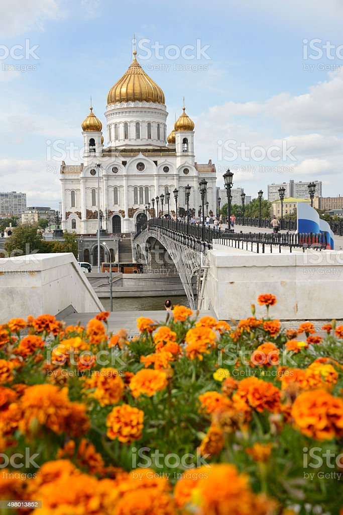 Temple of Christ the Savior, Moscow stock photo