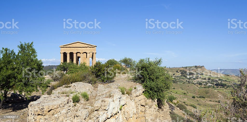 Temple of Concordia, Agrigento Sicily Italy royalty-free stock photo