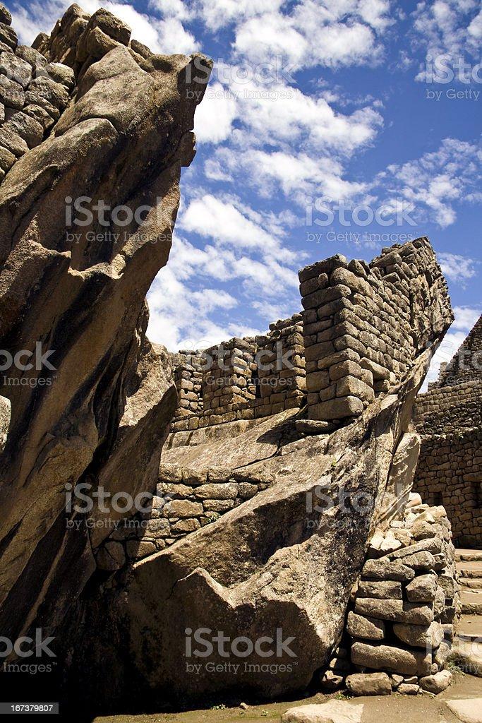 Temple of Condor in Machu Picchu, Peru stock photo