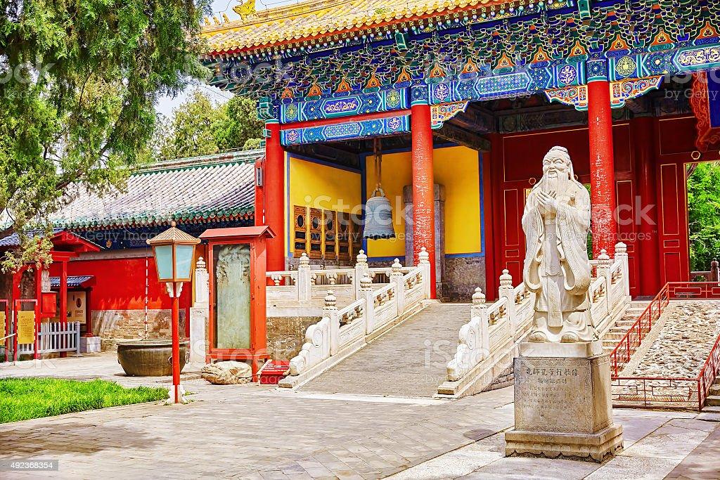 Temple of Confucius at Beijing stock photo