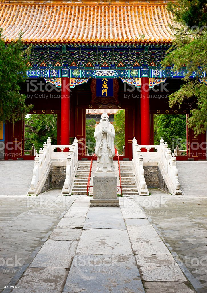 Temple of Confucius in Beijing, China stock photo