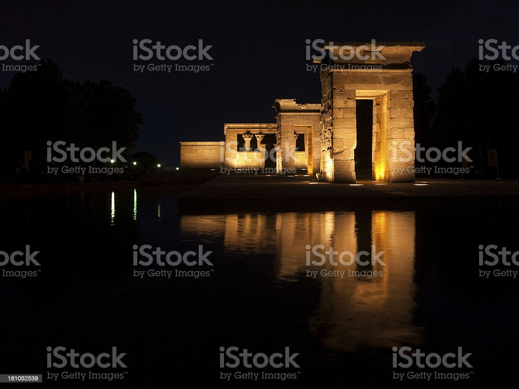 Temple of Debod, Madrid, Spain royalty-free stock photo