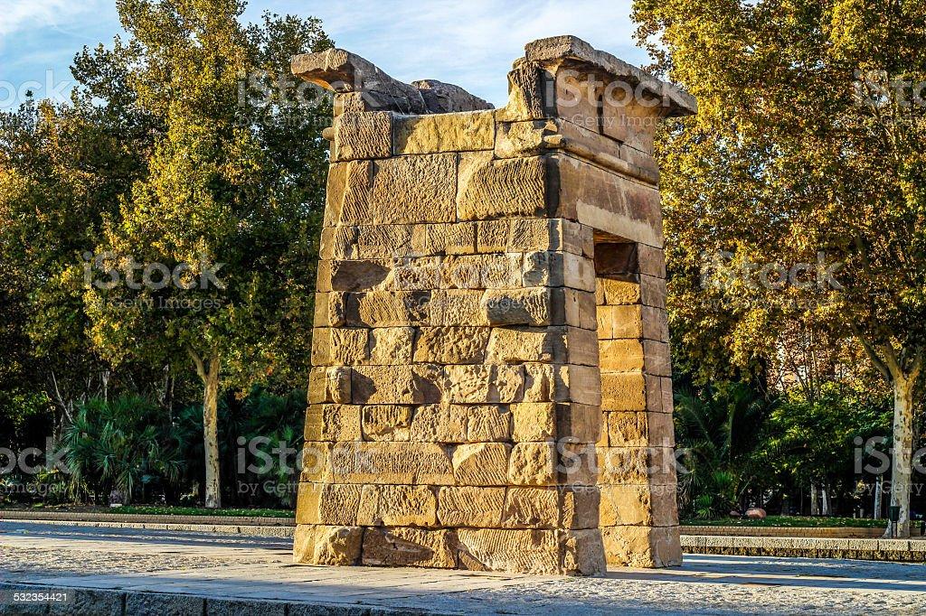 Temple of Debod, Madrid, Spain royalty-free stock photo