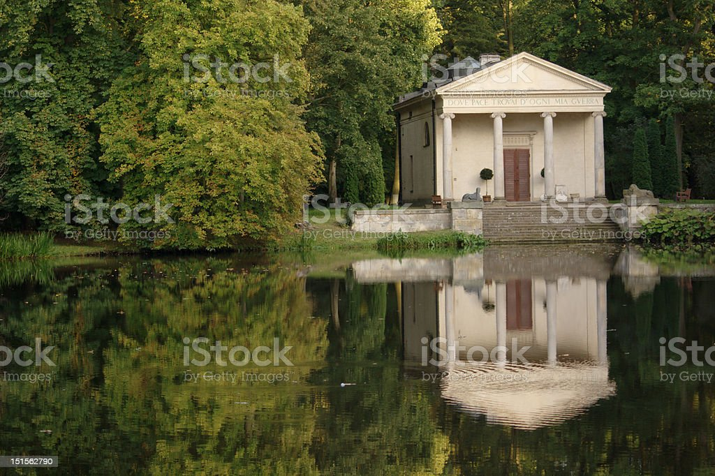 Temple of Diana on the water royalty-free stock photo