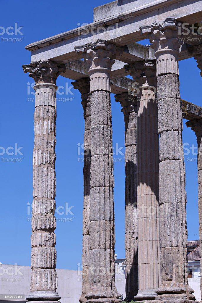 Temple of Diana royalty-free stock photo