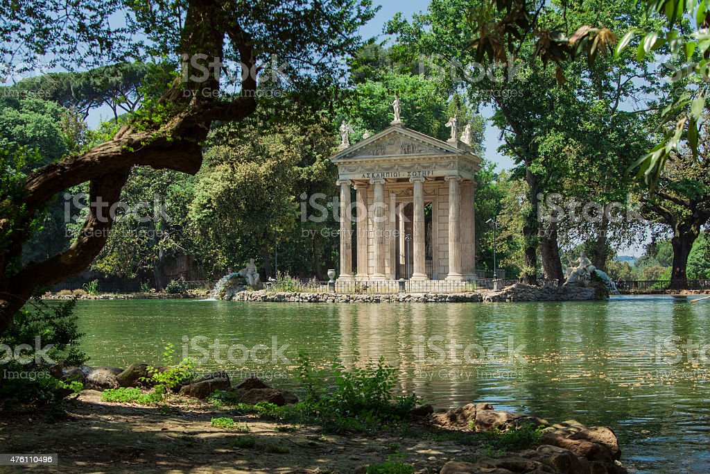 Temple of Esculapio stock photo